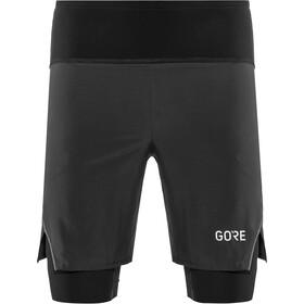 GORE WEAR R7 2en1 Shorts Hombre, negro